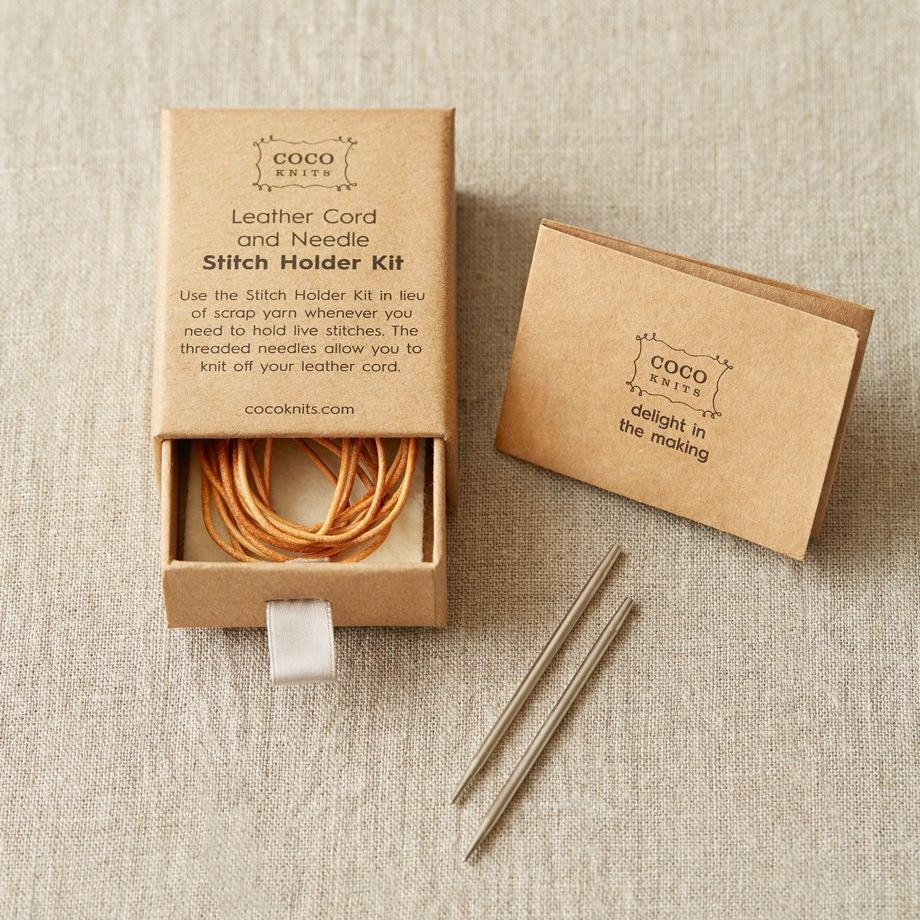 Cocoknits Cocoknits Leather Cord and Needle Stitch Holder Kit -  - Tools