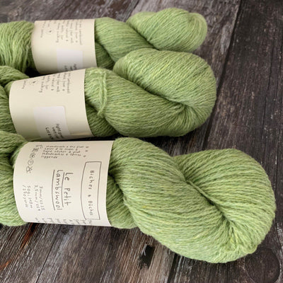 Biches & Bûches Le Petit Lambswool - Light Green - 4ply Knitting Yarn