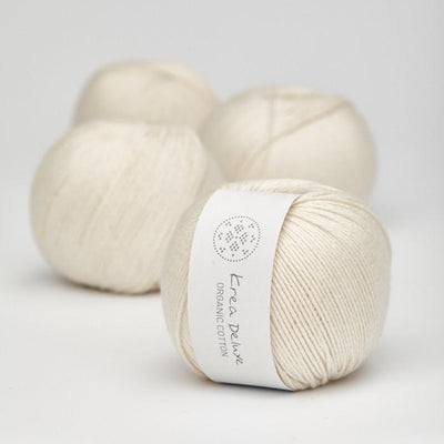Krea Deluxe Krea Deluxe Organic Cotton - No. 1 - 4ply Knitting Yarn
