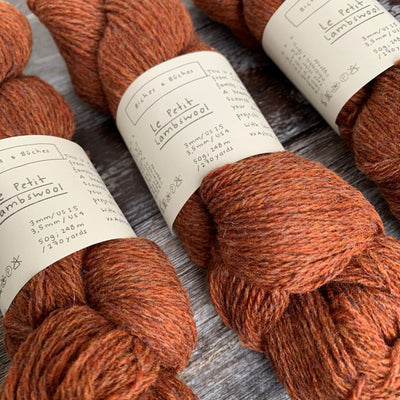 Biches & Bûches Le Petit Lambswool - Red Brown - 4ply Knitting Yarn