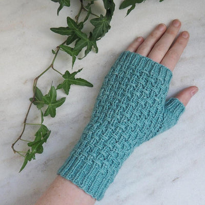 Tangled Yarn Warp & Weft Mitts -  - Downloadable Knitting Pattern