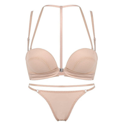 Image of New Sexy Push Up Front Closure Lingerie Set Gathering