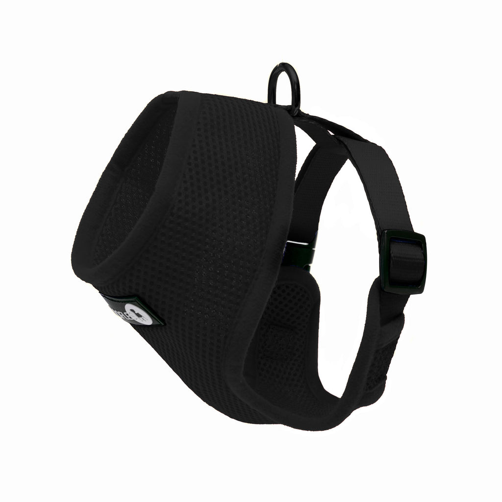 Back of Woofles Dual AirMesh Dog Harness Black
