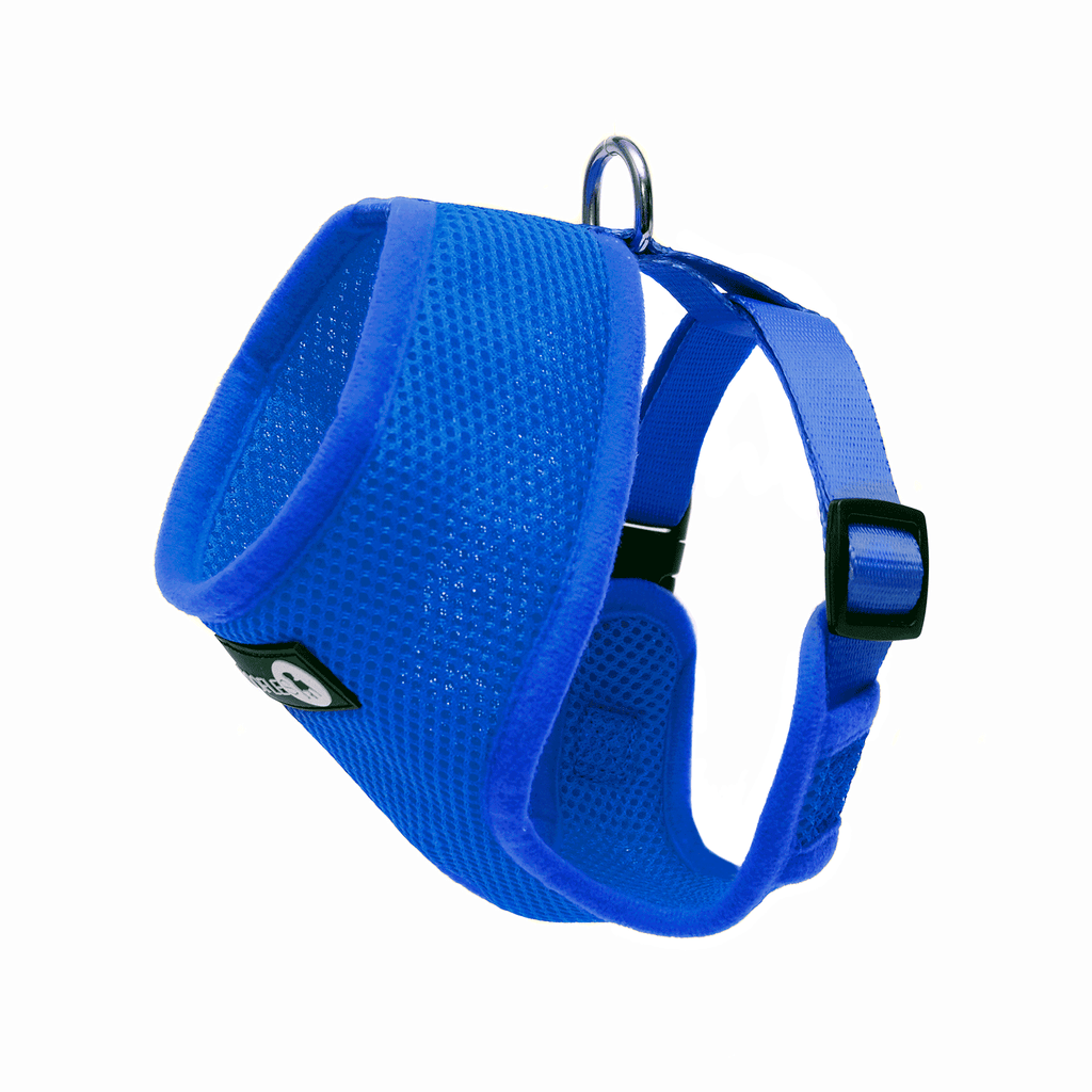 Back of Woofles Dual AirMesh Dog Harness Blue