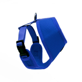 Side view of Woofles Dual AirMesh Dog Harness Blue