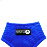 Close up of Woofles Dual AirMesh Dog Harness Blue