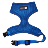 Front of Woofles Dual AirMesh Dog Harness Blue