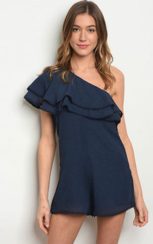 One Shoulder Romper