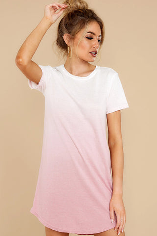 Ombre Pink T-shirt Dress