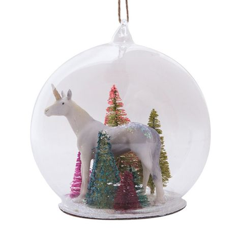 Magical Unicorn Globe Ornament