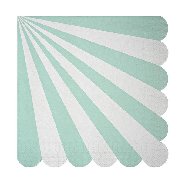 Aqua Stripe Large Napkins