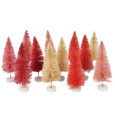 Set of 12 Pink Trees