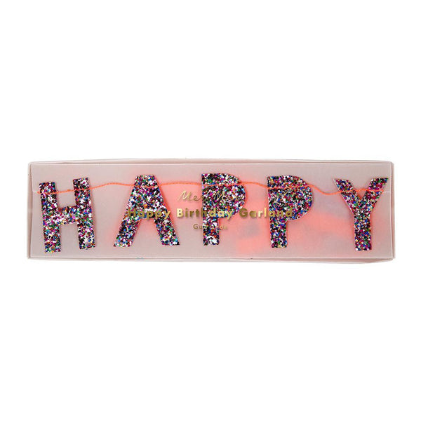 Glitter Birthday Mini Banner