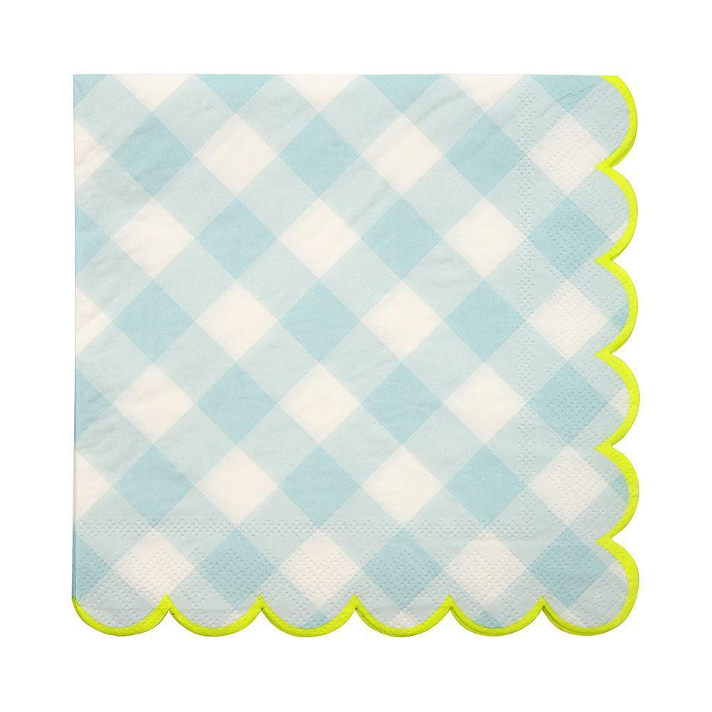 Blue Gingham Large Napkins