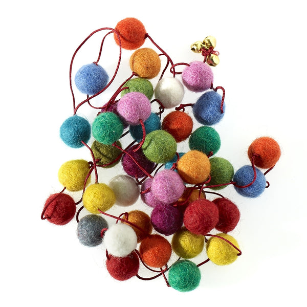 Pom Pom Garland 6ft Assorted