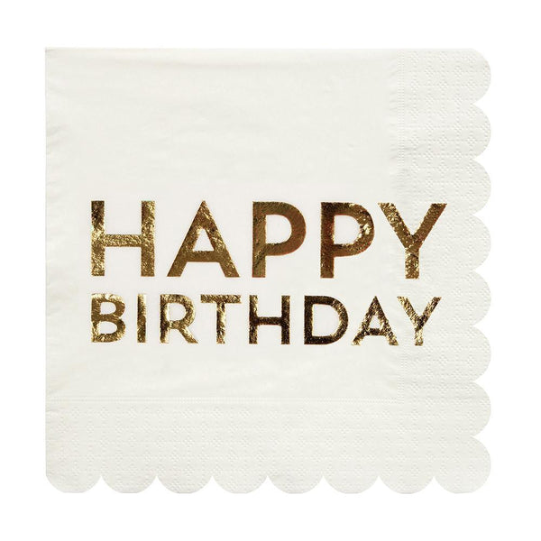 Birthday Gold Large Napkins