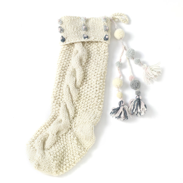 Light Dots Knit Stocking