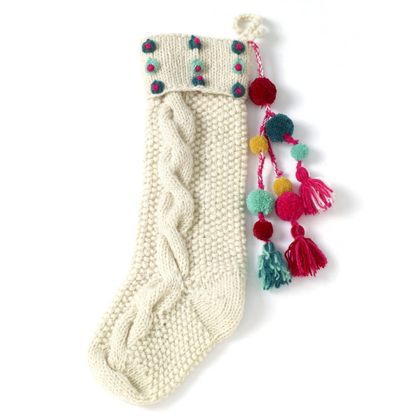 Bright Dots Knit Stocking