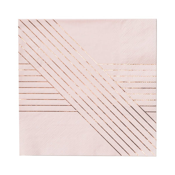 Pale Pink Striped Napkins-Large
