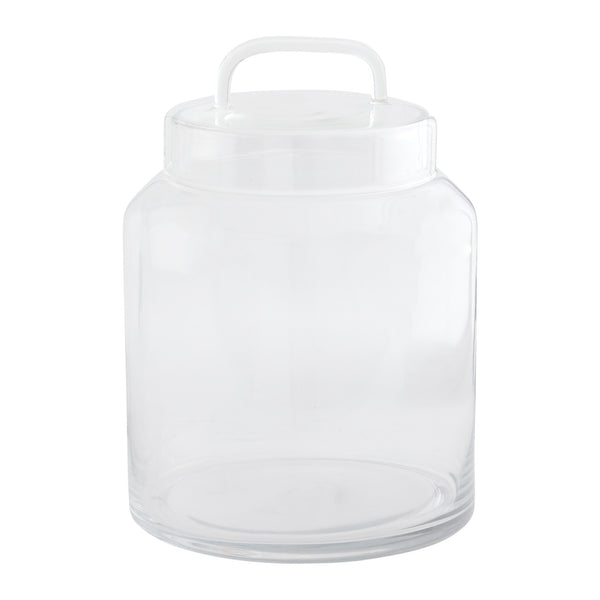 Glass Lidded Jar - Short
