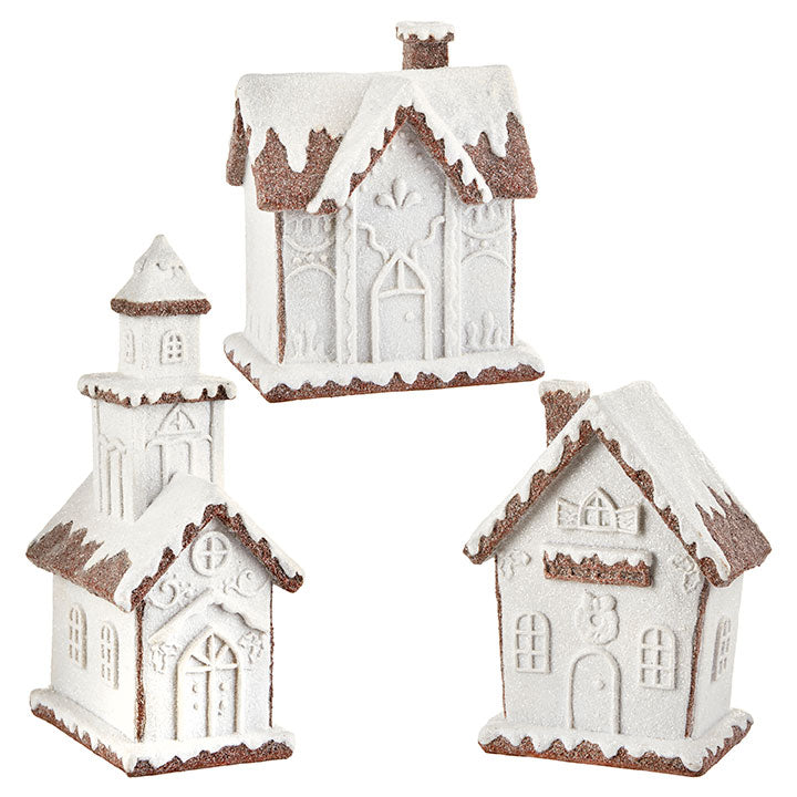 White Frosted Gingerbread House