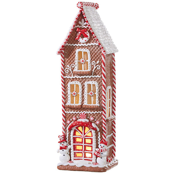 Lighted Candycane Gingerbread House