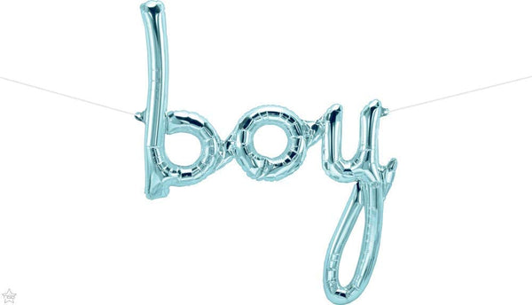 Boy Script Blue Balloon