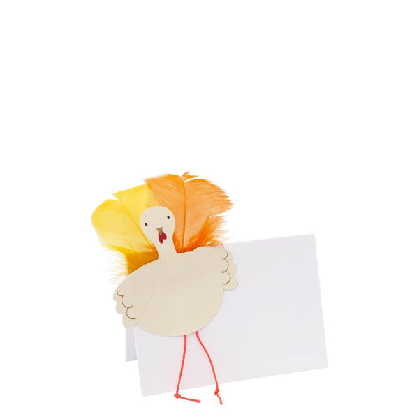Feather Turkey Place Cards