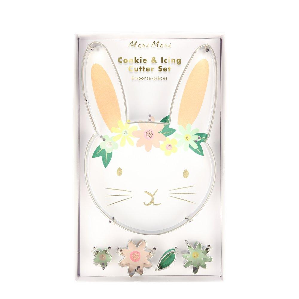 Floral Bunny Cookie Cutters