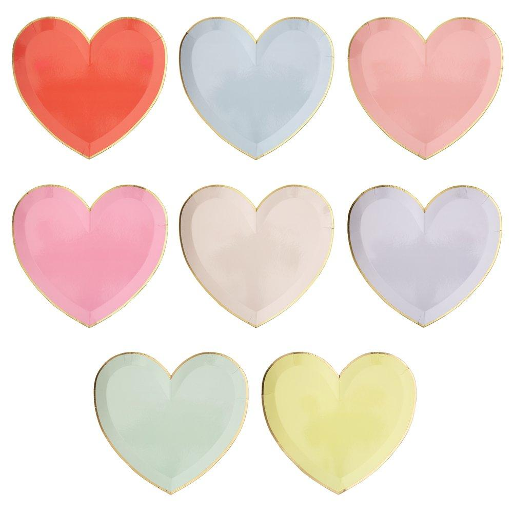 Pastel Hearts Large Plates