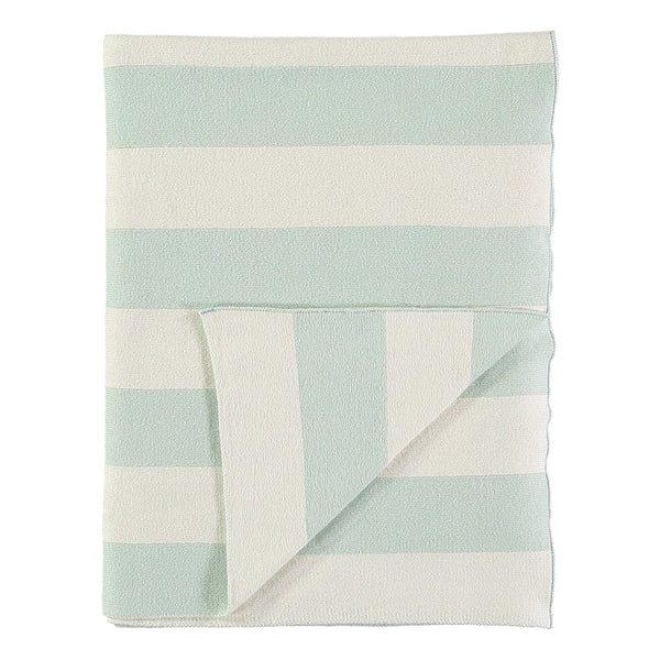 Mint & Ivory Knit Blanket
