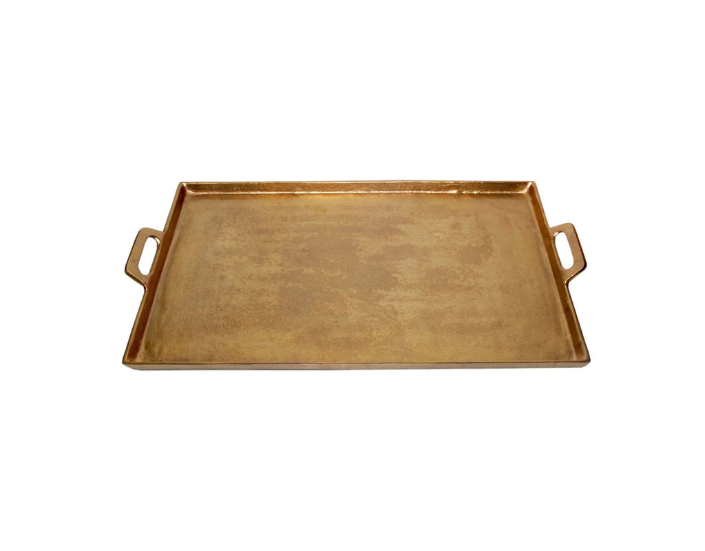"Antique Brass Tray 11.5"" x 20"""