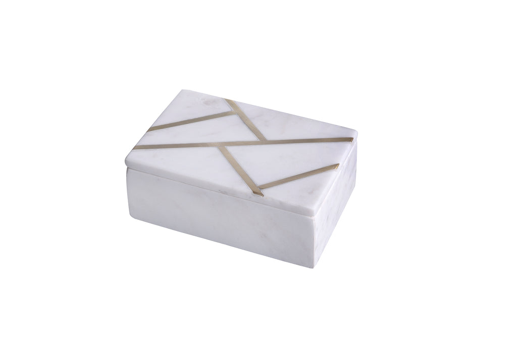 Marble & Brass Inlay Box
