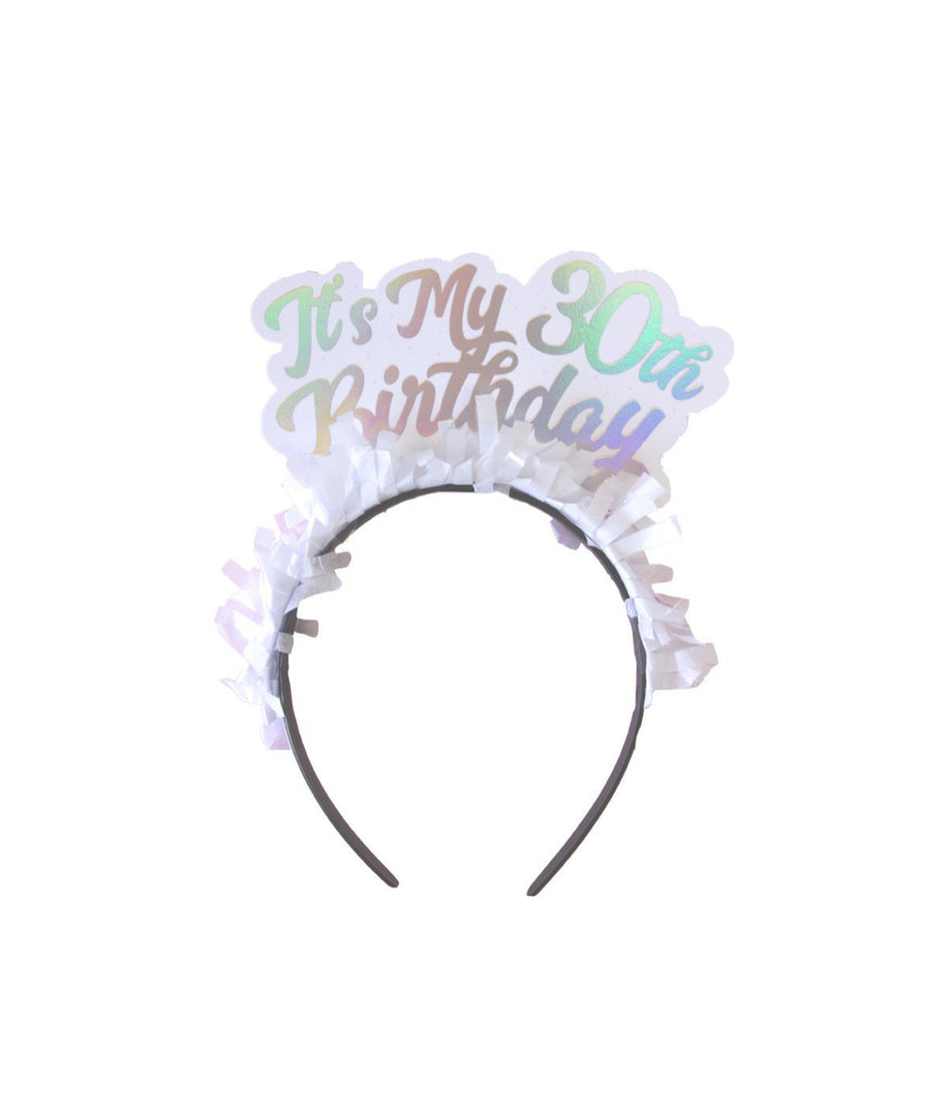 30th Birthday Headband Pink Antlers