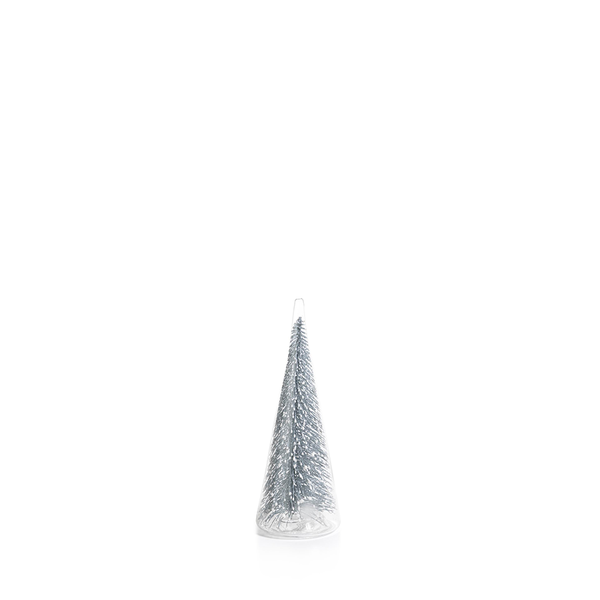 Clear Glass Silver Glitter Tree