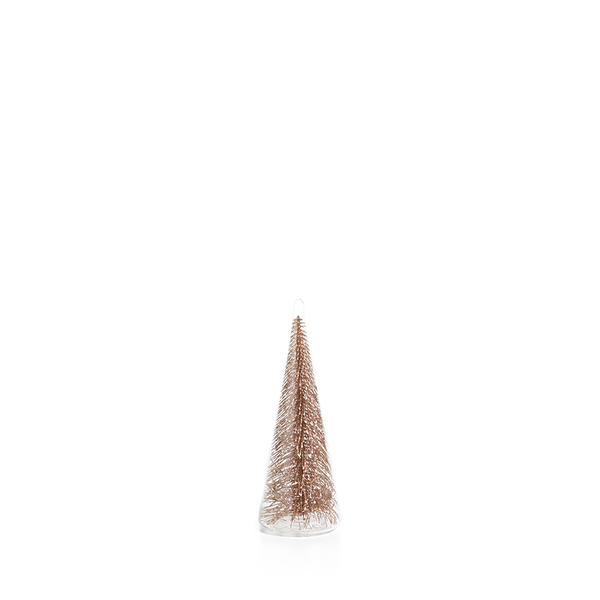 Clear Glass Champagne Glitter Tree