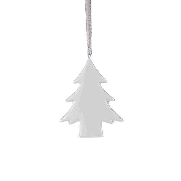 Ceramic White Tree Ornament A