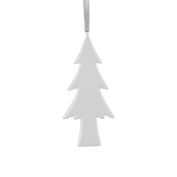 Ceramic White Tree Ornament B