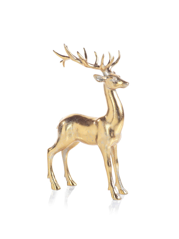 Large Gold Looking Ahead Deer