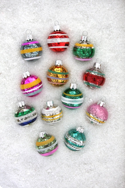 Painted Ball Ornament Set