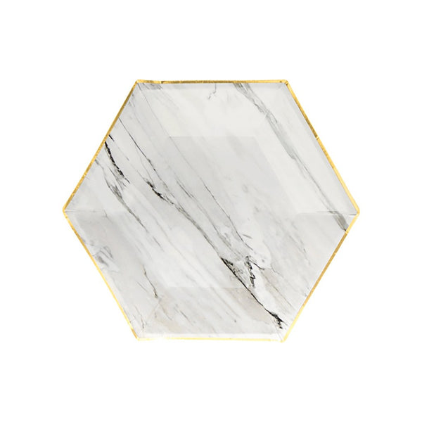 Marble Hexagon Small Plates