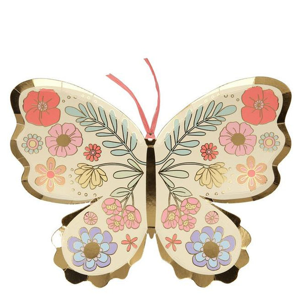 Floral Butterfly Plates