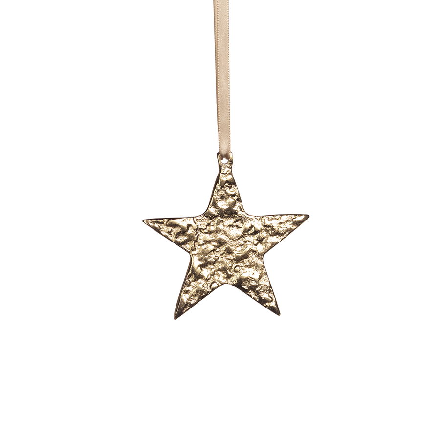 Small Aluminum Star Ornament - Gold