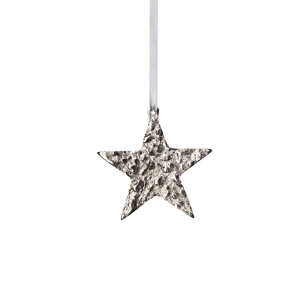 Small Aluminum Star Ornament - Nickel