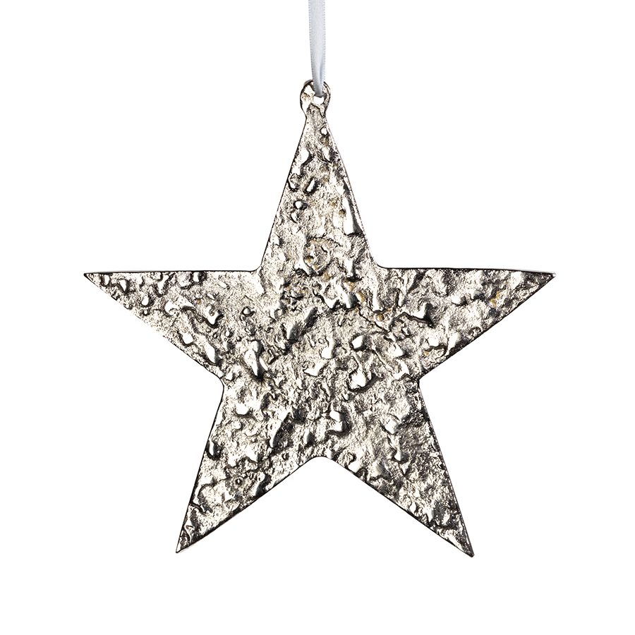 Large Aluminum Star Ornament - Nickel