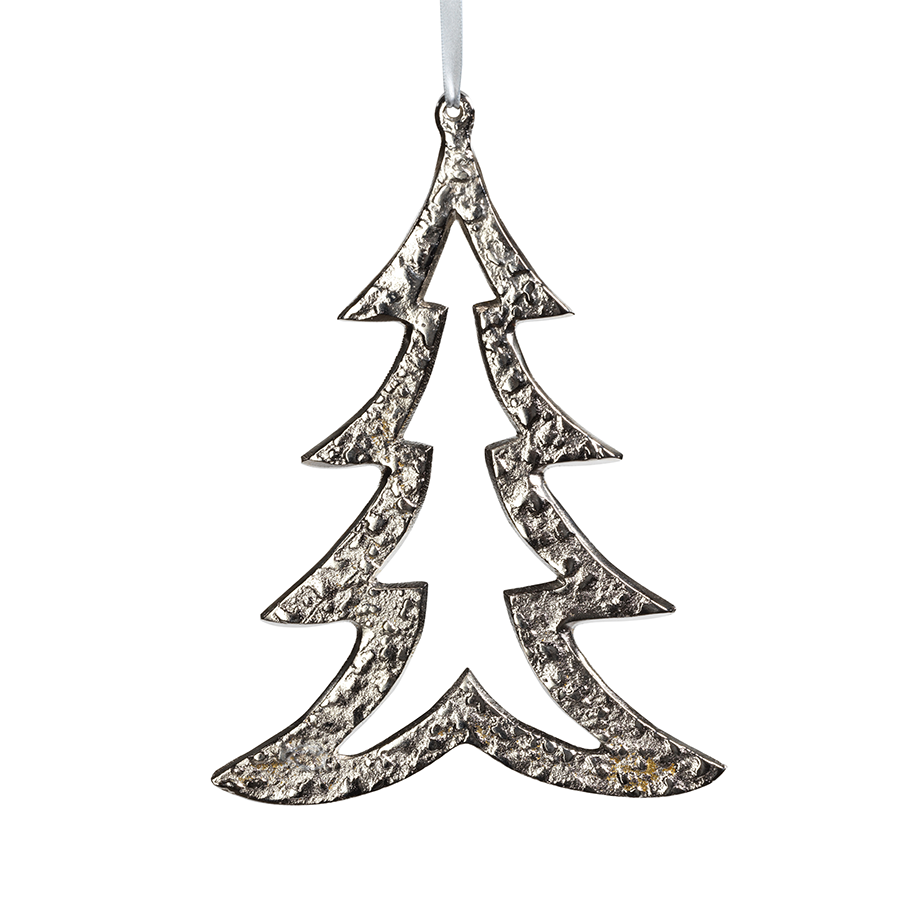 Aluminum Tree Ornament - Nickel