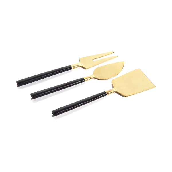 Black & Gold Cheese Set