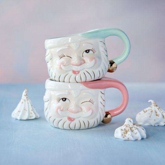 Colored Papa Noel Mugs
