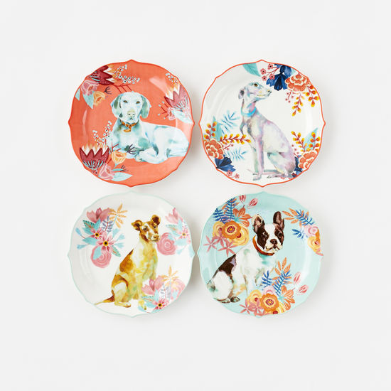 Porcelain Dog Plates