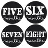 Sophisticated Month Stickers